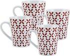 Pfaltzgraff Set Of Four 27 Ounce Jumbo Red Petals Coffee Mug