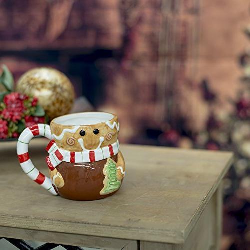 Set Gingerbread Man, Santa and Penguin ounce Ceramic