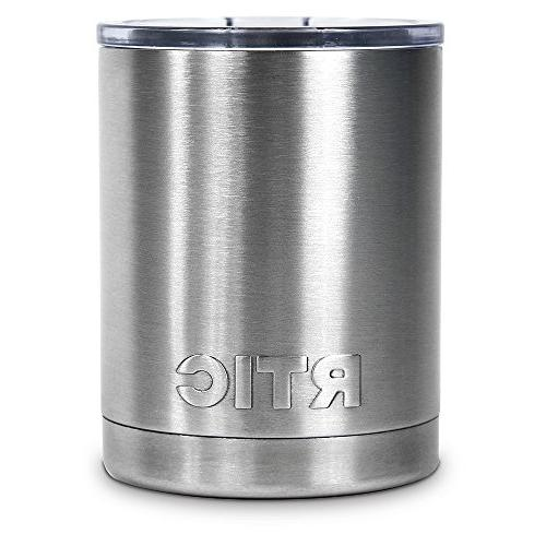 NEW RTIC Stainless Steel Lowball with Lid