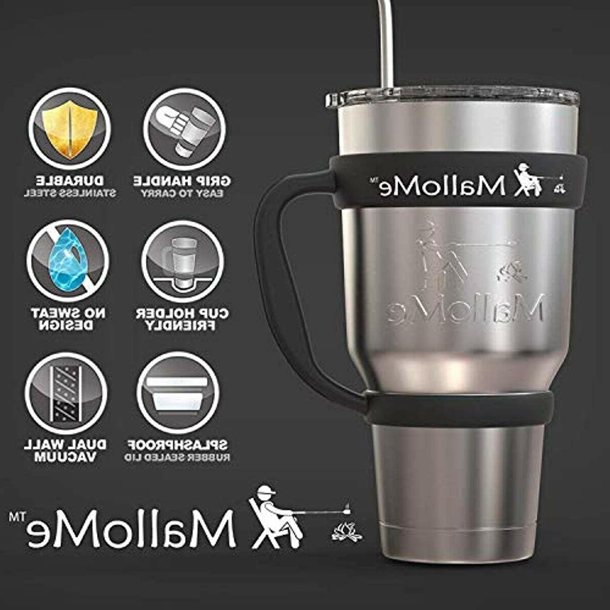 MalloMe Stainless 30 oz Cup Travel with 2