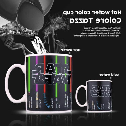 Star Wars Coffee Mug Lightsaber Heat Sensitive Color Changin
