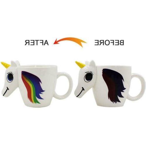 Heat Reactive Magic Coffee Cup Unicorn Ceramic Color Changin