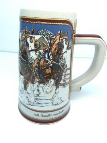 stein holiday ceramic mug 1989 christmas