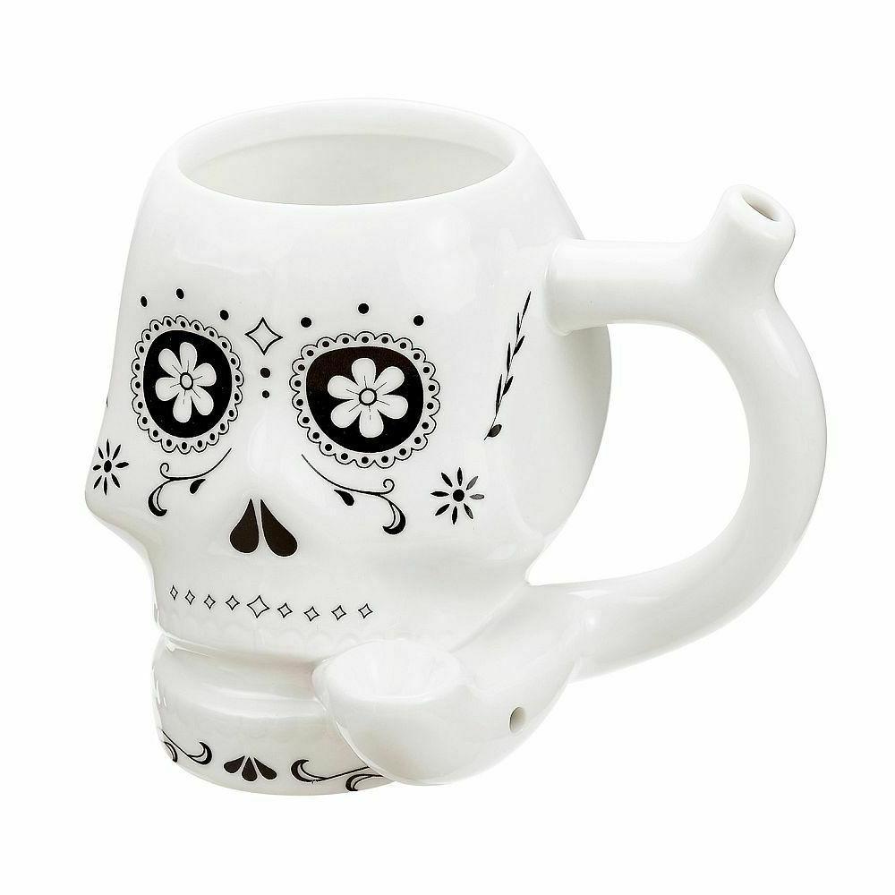 stoner girl white ceramic coffee tea pipe