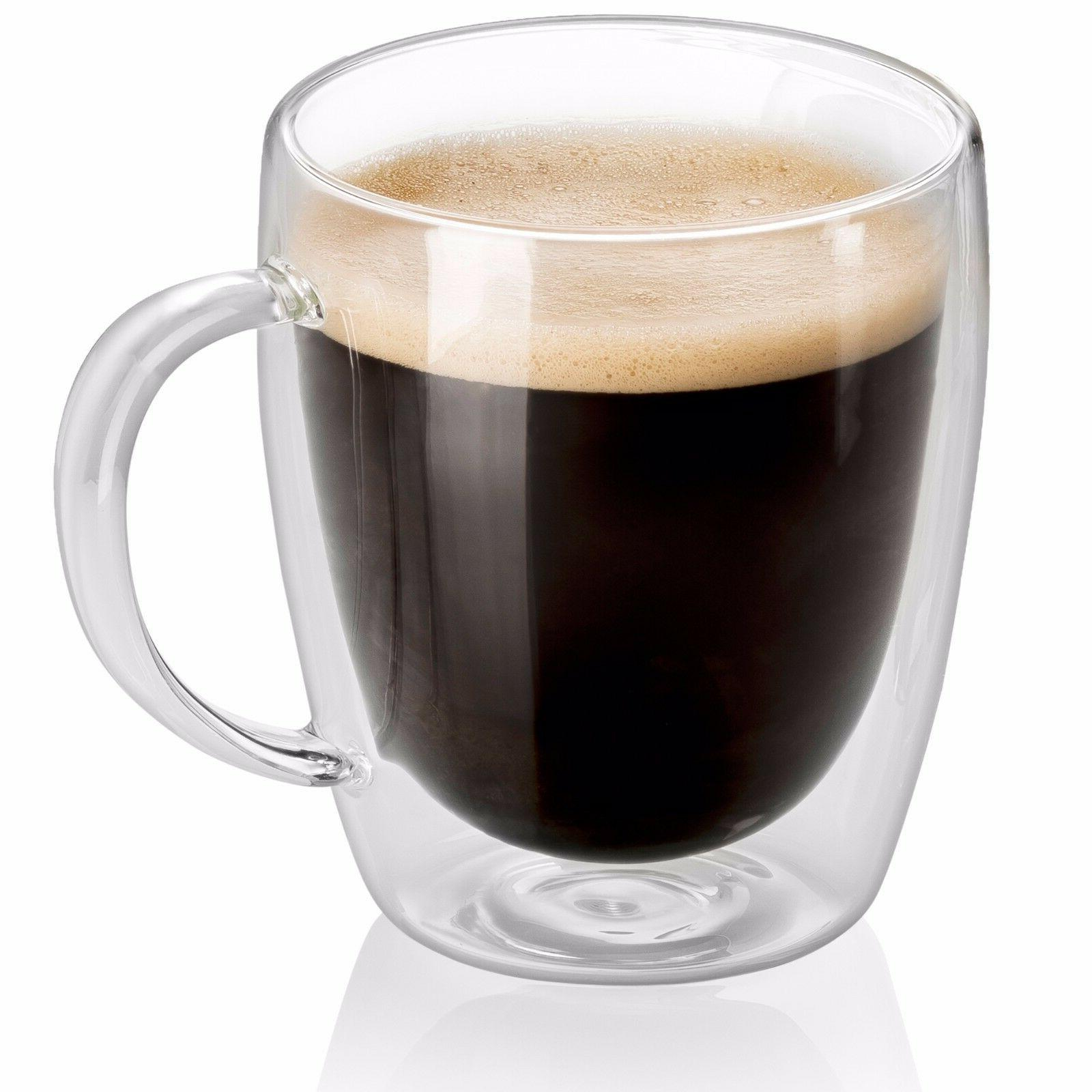 Set Strong Clear Glass Coffee Tea Espresso Cup