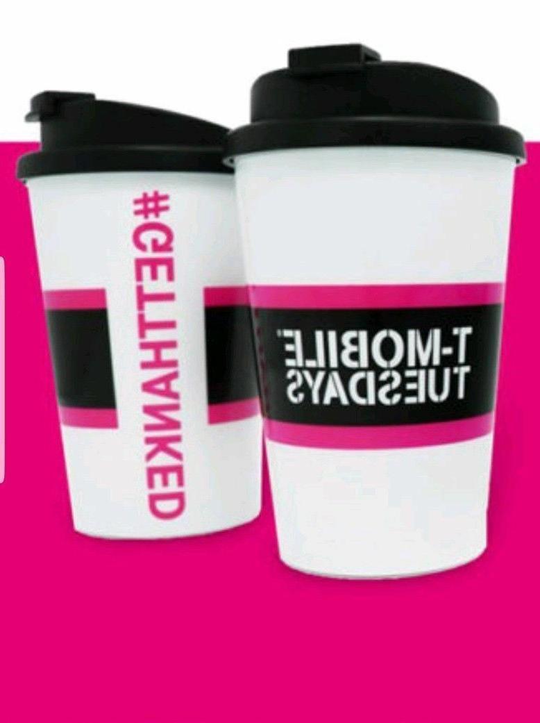 T-Mobile Travel Mug Cup w/ Lid, Snap Seal - BPA Free - Micro