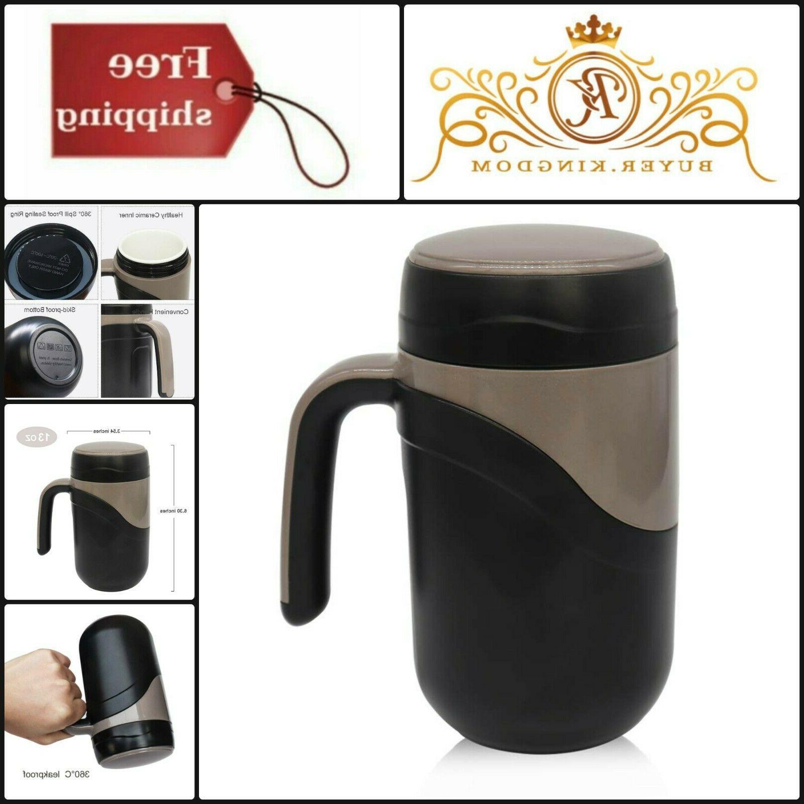 Tall Porcelain Ceramic Lined Coffee Travel Mug Insulated Tum