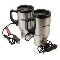 Wagan Tech 2227-1 2 Pack Ceramic Electronic Heated Travel Mu