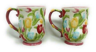 Temp-tations S/2 Floral Dinnerware Mug, Mugs