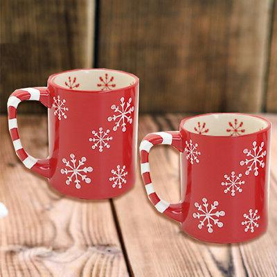 temp tations snowflake set of 2 mugs