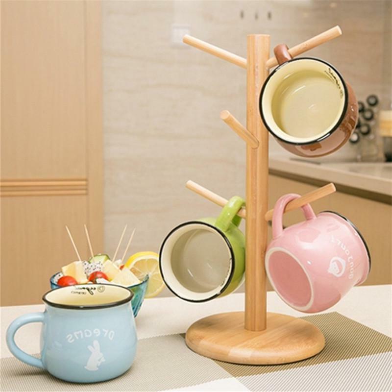 Mug Tree Holder Cups Coffee Tea Cup Rack Storage Stand Organ