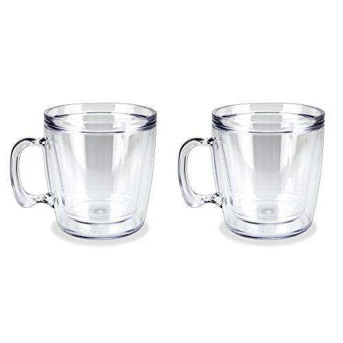 Set 2 Tumbler Double-wall Insulated 12 Ounce Clear