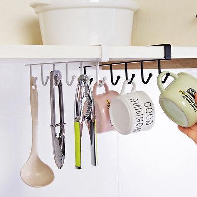 Under Mug Hanger Storage Rack For Home Cupboard
