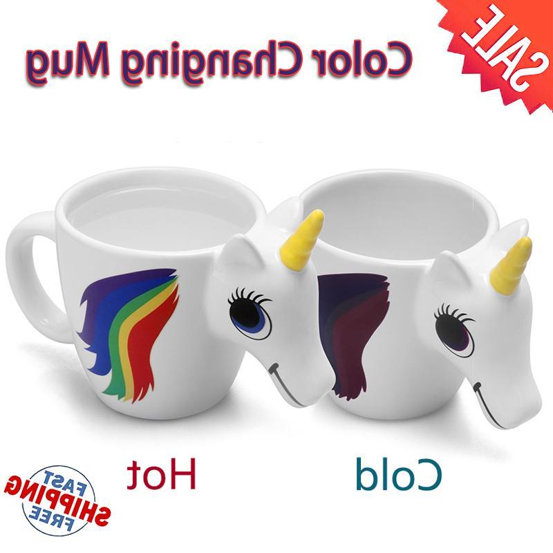 unicorn ceramic color changing mug original 3d