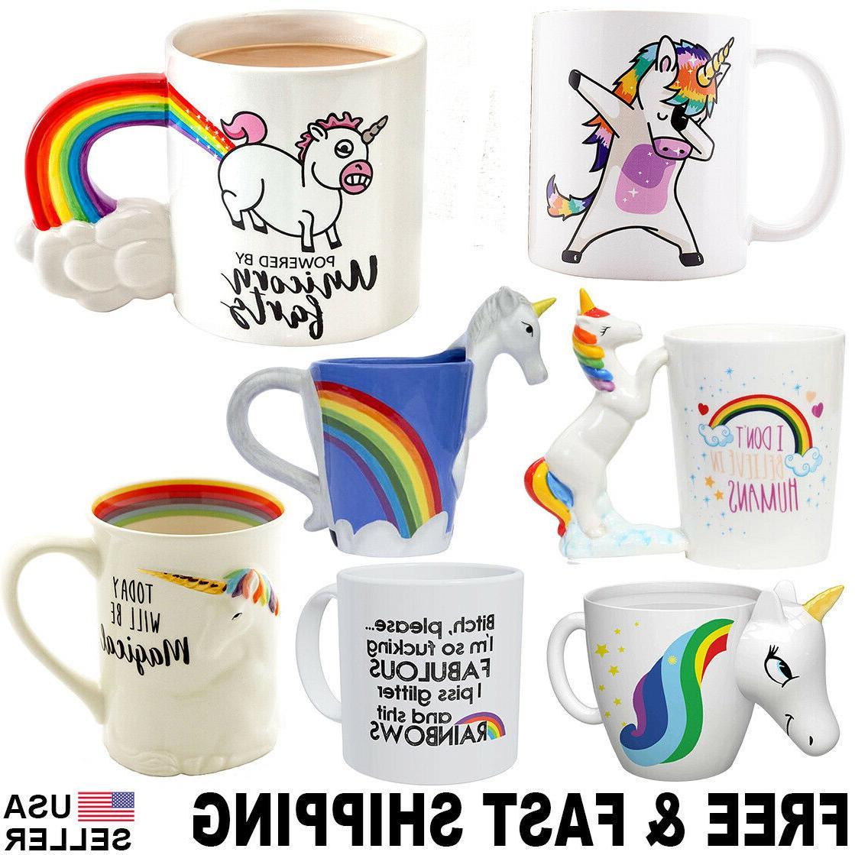 unicorn mug 3d color changing coffee cup