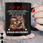 UP To My Wife I Love You Forever And Always Mug Black Cerami
