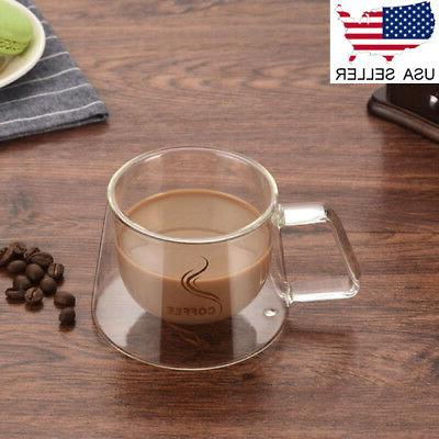us double wall glass cups for cappuccino