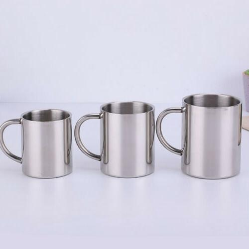 US Stainless Steel Tea Cup Camping/Travel Outdoor Drink Picnic