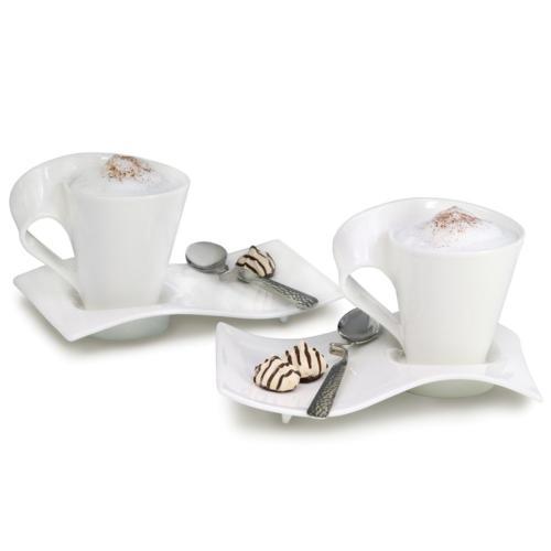 Villeroy Wave Caffe Mugs, of 2