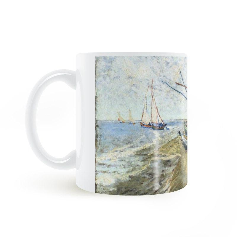 Vincent van Gogh Fishing boat Saintes Mer Coffee Cup Creative Gifts GA1399
