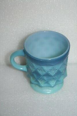 vintage fire king blue diamond kimberly coffee