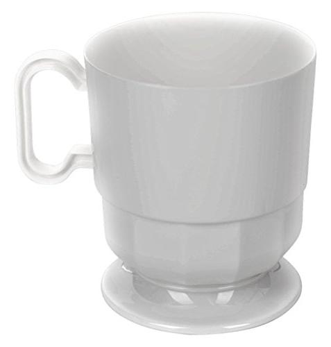 white plastic coffee cups