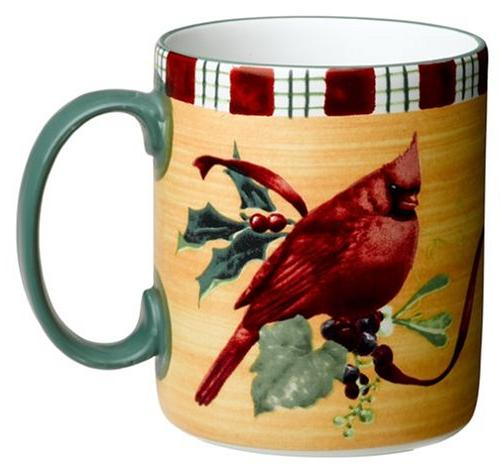 winter greetings everyday stoneware cardinal