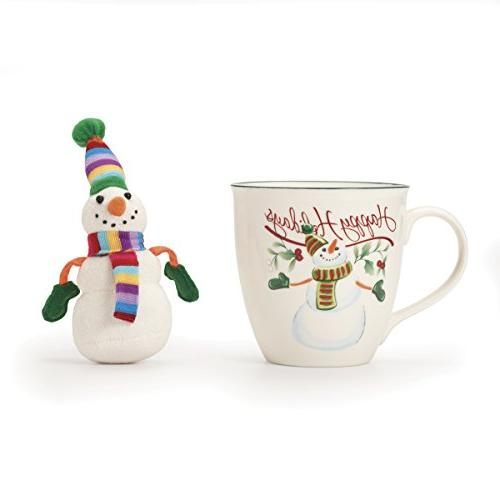 winterberry snowman mug