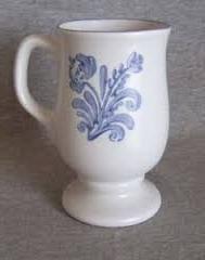 yorktowne footed coffee mug cup