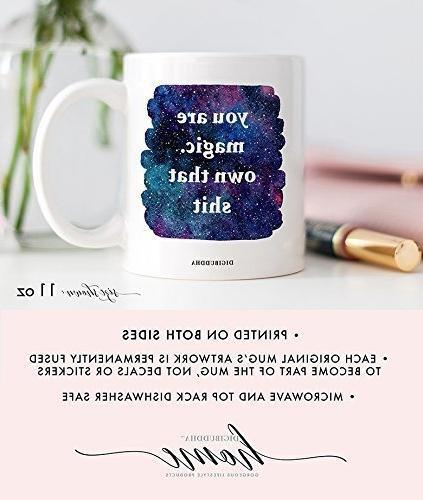 You Are Magic. That Shit Mug Badass Woman Gift Idea Mom Niece Coffee Digibuddha