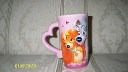 Disney Lady and the Tramp 3D Ceramic Mug - NEW - MAKE OFFER!