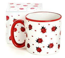 Lady Bugs & Hearts Valentine Cup Mug burton & Burton NEW in