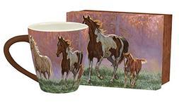"""LANG - 17 oz Ceramic Cafe Mug  - """"Morning Sun"""" - Artwork by"""