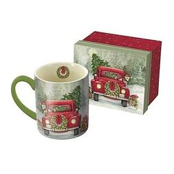 Lang Santa's Truck Mug by Susan Winget, 14 oz., Multicolored