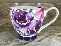 Large 16 Ounce Coffee Mug Purple And Pink Flowers. Portobell