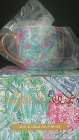 LILLY PULITZER LARGE CERAMIC COFFEE MUG/CUP NIB
