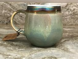 large coffee mug iridescent rim choose color