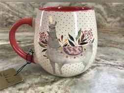 Large Coffee Mug Llama And Dots. Nicole Miller 20 Ounce. New