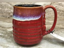 Large Coffee Mug Red And Black Barrel Style. La Rochelle. 16