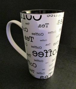 10 Strawberry Street Large Coffee Tea Mug Black White NEW
