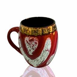 Large Java Ceramic Barrel Shaped Coffee Mugs Latte Cappuccin