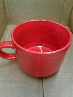 Large Red Jumbo Soup Coffee 22oz Cocoa Mugs for Cappuccino,