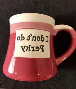 """Large Tumbleweed Pottery Coffee Mug - Stoneware - Pink - """"I"""