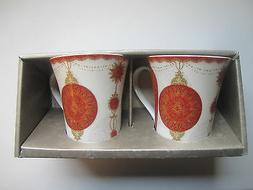 222 Fifth Latte Mugs Set of Two 10 Oz Microwave Dishwasher S