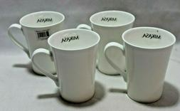 Mikasa Lausanne White Bone China 12oz. Coffee Mugs Cups Set
