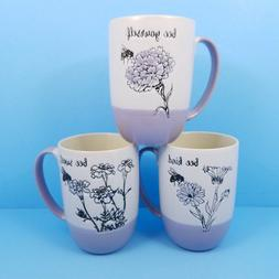Lavender Honey Bee Coffee Mug Cup Blue Sky Spectrum 16oz You