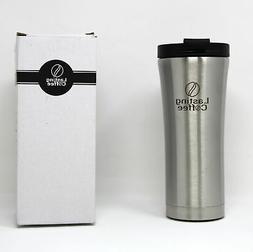 Leak Proof Dishwasher Safe Steel Travel Mug, 16 oz Silver, L