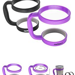 leeken handle for 30 oz Tumbler, Pack of 2 - Black / Purple