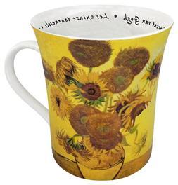 Konitz 12-Ounce Les Fleurs Chez Les Peintres Van Gogh Mugs,