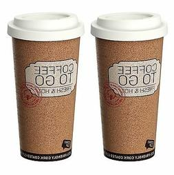 Life Story Corky Cup Reusable 16 oz Insulated Travel Mug Cof